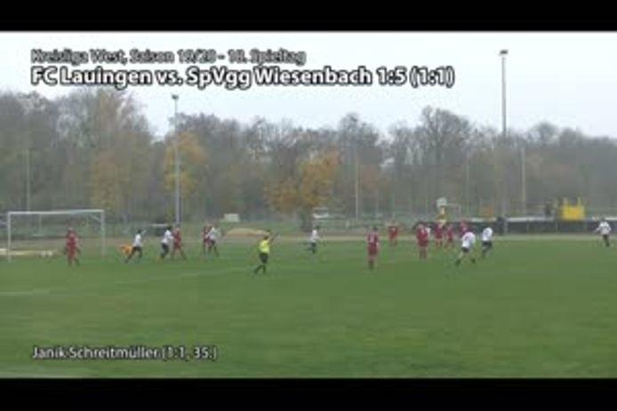 FC Lauingen vs. SpVgg Wiesenbach 1:5 (1:1)