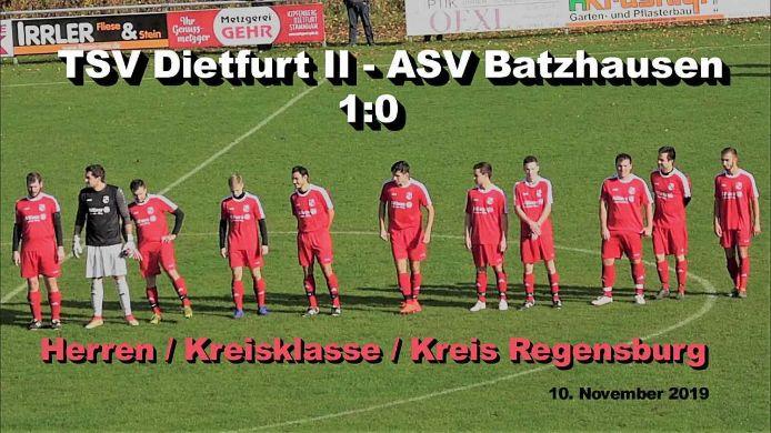 TSV Dietfurt II - ASV Batzhausen 1:0