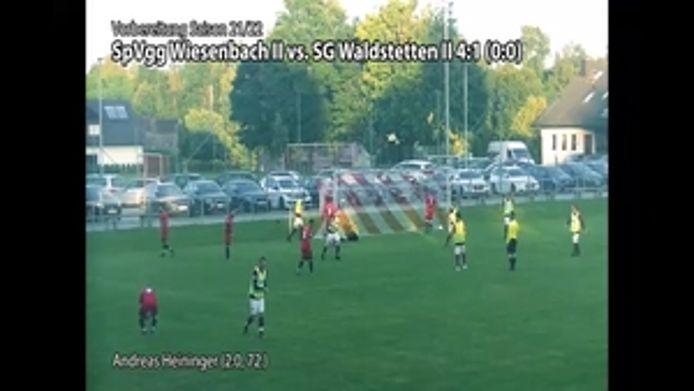Wiesenbach 2 gegen Waldstetten 2, 4:1