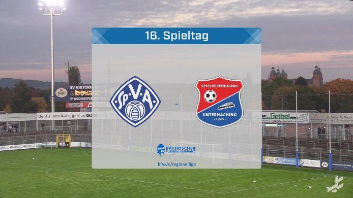 SV Viktoria Aschaffenburg - SpVgg Unterhaching, 1:1