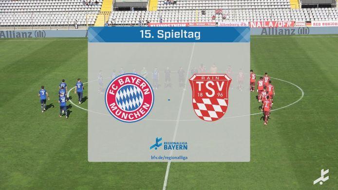 FC Bayern München II - TSV Rain/Lech, 3:1