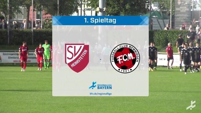 SV Heimstetten - FC Memmingen, 4:1