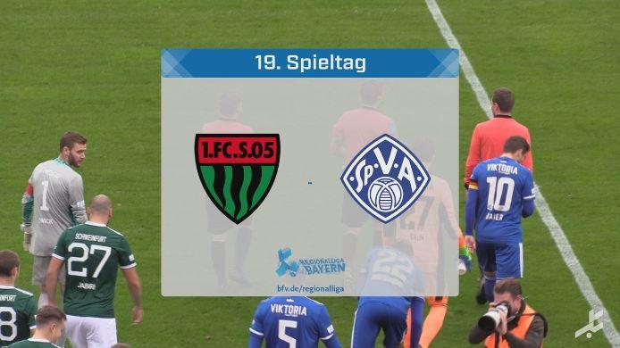 1. FC Schweinfurt 05 - SV Viktoria Aschaffenburg, 2:1