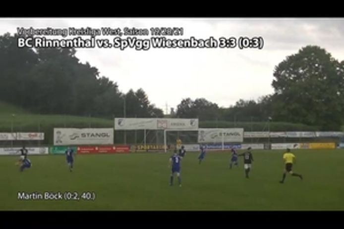 BC Rinnenthal vs. SpVgg Wiesenbach, 3:3