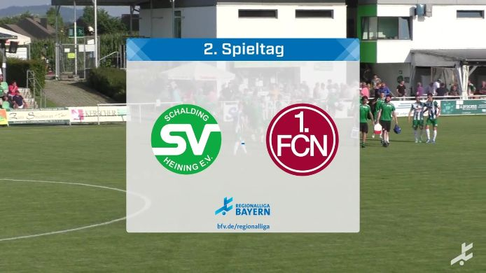 SV Schalding-Heining - 1. FC Nürnberg II, 1:1