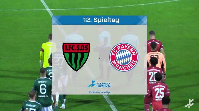 1. FC Schweinfurt 05 - FC Bayern München II, 3:6