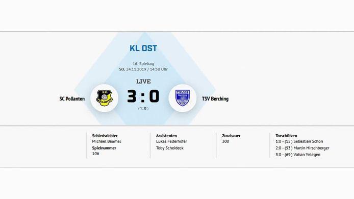 SC Pollanten - TSV Berching 3:0