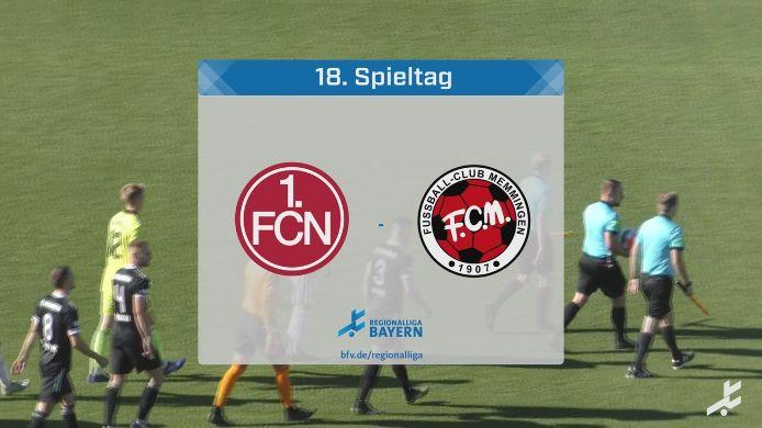 1. FC Nürnberg II - FC Memmingen, 1:1