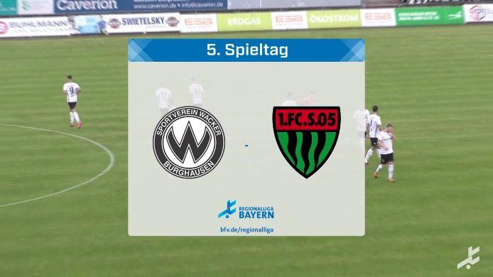 SV Wacker Burghausen - 1. FC Schweinfurt 05, 5:2