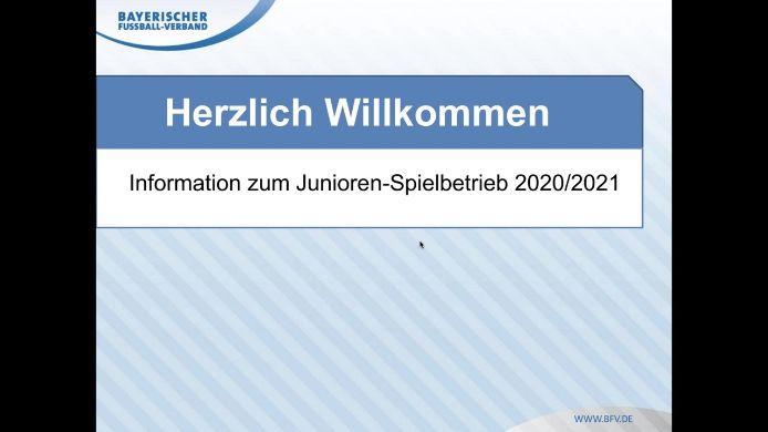 Info Junioren-Spieljahr 2020/21 - Florian Weißmann