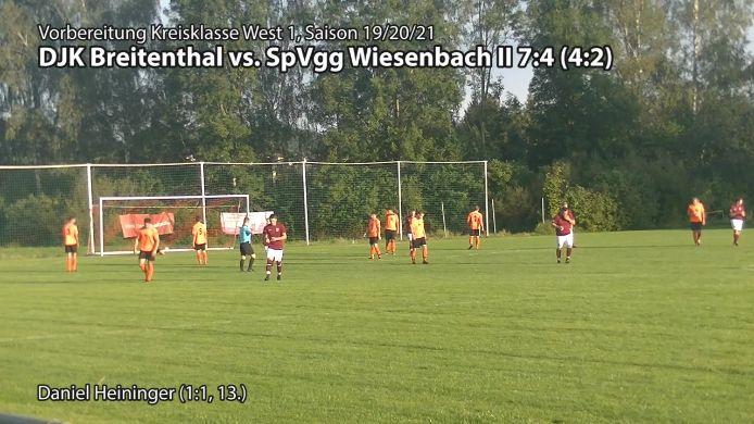 DJK Breitenthal vs. SpVgg Wiesenbach II, 7:4