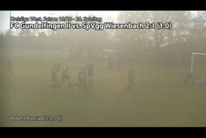 FC Gundelfingen II vs. SpVgg Wiesenbach