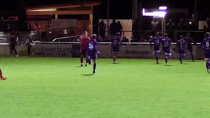 Fallrückzieher-Tor von Michael Bachhuber zum 1:0 gegen TSV Wasserburg