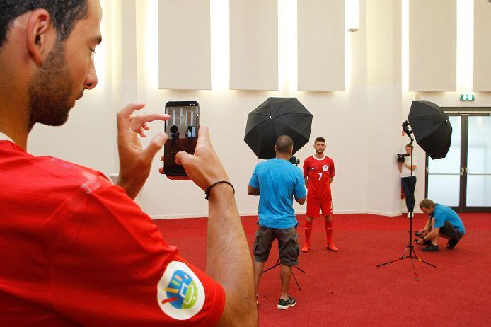 Für jedes Team gab es ein offizielles Fotoshotting der UEFA