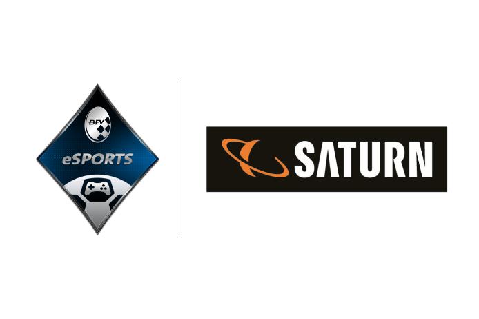StayAtHome Cup Saturn Logo weiß