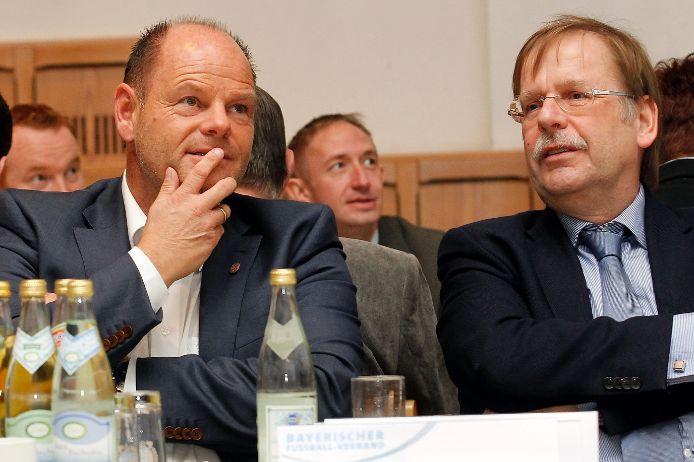 BFV-Schatzmeister Jürgen Faltenbacher und BFV-Präsident Rainer Koch
