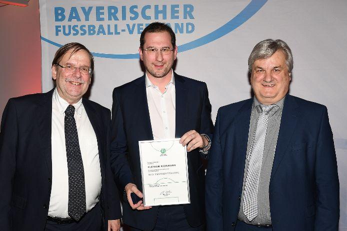 Ausgezeichnet: (von links) Rainer Koch, Florian Weißmann und Reinhold Baier.
