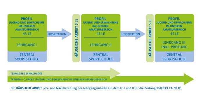 Grafik Trainerausbildung Trainer-C Jugend und Erwachsene