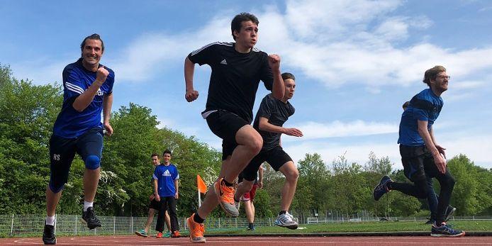 Lauftest bei der Leistungsprüfung 2018