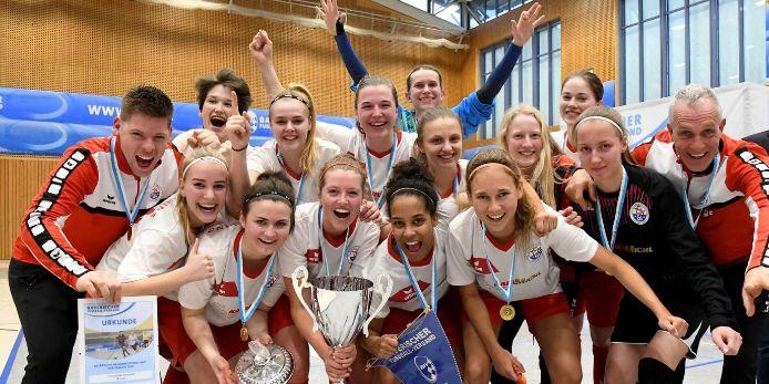 Die Frauen des TSV Gilching-Argelsried haben die Bayerische Hallenmeisterschaft 2019 gewonnen.