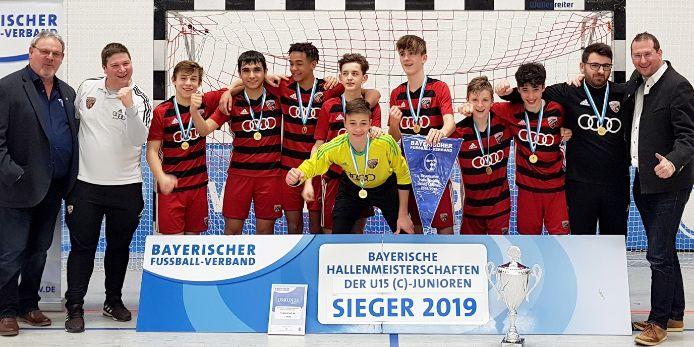 Bayerischer Hallenmeister 2019: die C-Junioren des FC Ingolstadt 04