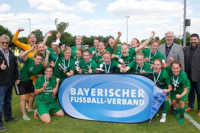 Die Frauen des FC Forstern haben den Verbandspokal 2019 gewonnen.