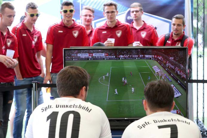 Szene bei der BFV eClub Championship bei der Fußballiade in Landshut.