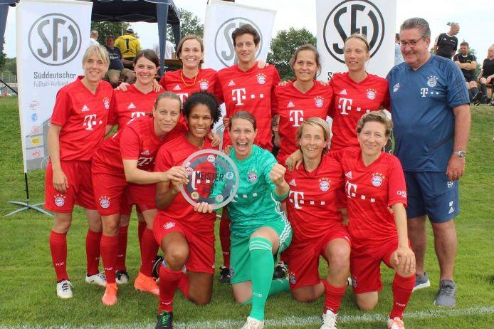 Die Ü35-Frauen des FC Bayern München haben die Süddeutsche Meisterschaft 2019 gewonnen.