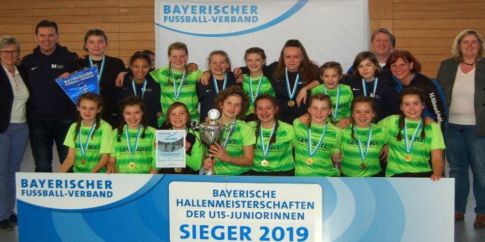 Die Bayerischen Hallenmeister bei den U15-Juniorinnen