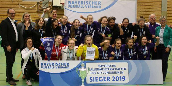 Siegerbild U17-Juniorinnen Bayerische Hallenmeisterschaft