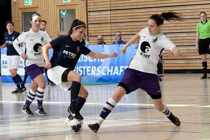 Spielszene bei der Bayerischen Hallenmeisterschaft der Frauen 2019