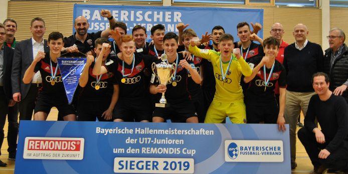 Bayerische Hallenmeisterschaft der U17-Junioren Siegerfoto
