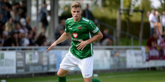 Florian Pieper vom 1. FC Schweinfurt 05 in Aktion