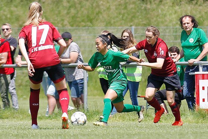 Spielszene beim BFV-Pokal-Finale der Frauen 2019 zwischen dem FC Forstern und dem 1. FC Nürnberg