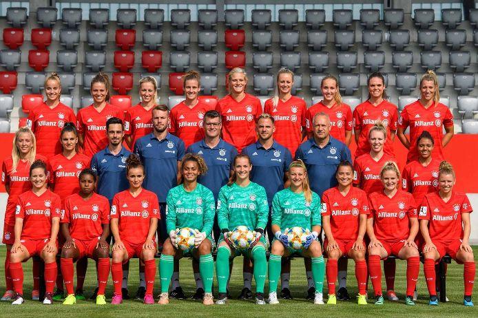 Mannschaftsfoto der Frauenmannschaft des FC Bayern München 2019-20