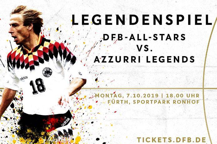 Die neu gegründeten DFB-All-Stars treffen am 7. Oktober in Fürth auf Italien.