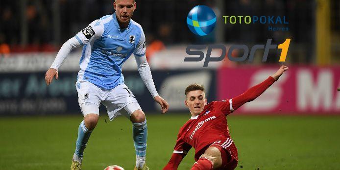 Spielszene TSV 1860 München gegen SpVgg Unterhaching 2019