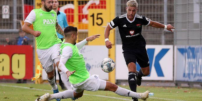 Björn Schnitzer (SV Viktoria Aschaffenburg), Hamza Boutakhrit (SV Viktoria Aschaffenburg), Sascha Korb (1. FC Schweinfurt 05)
