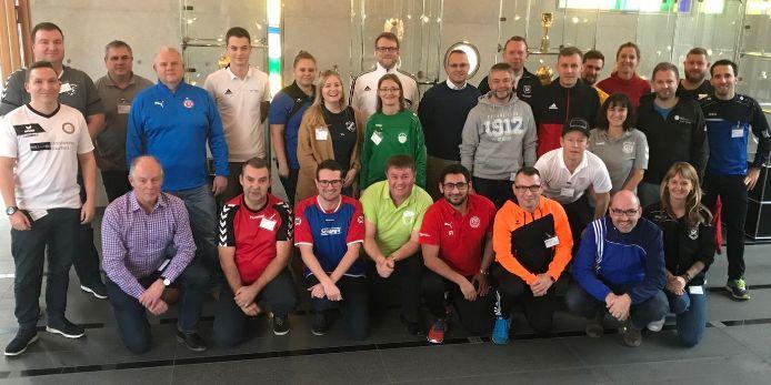 Die Teilnehmer des dritten DFB-Workshops zum Masterplan
