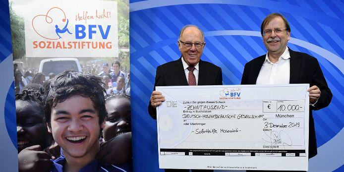 Scheck BFV-Sozialstiftung Deutsch-Mosambikanische Gesellschaft