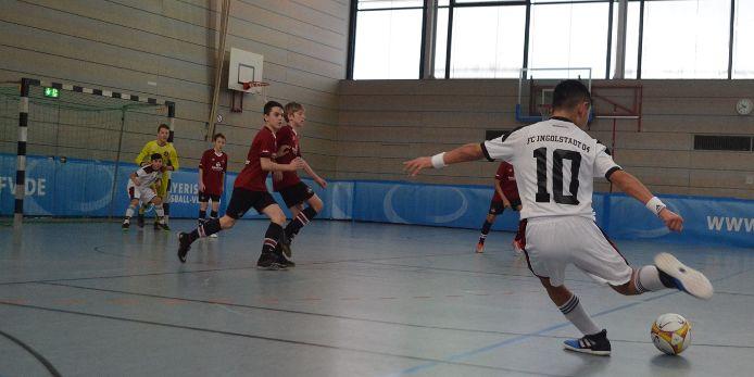 Spiel bei der Bayerischen Hallenmeisterscahft der D-Junioren