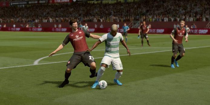 Spielszene bei FIFA 20 auf der Playstation 4.