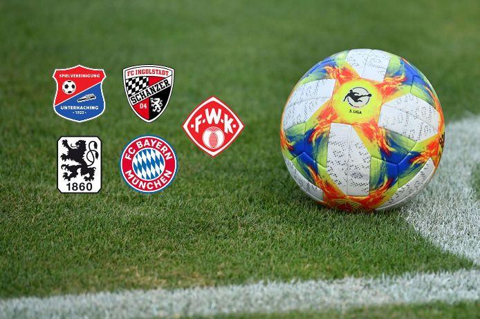 Die bayerischen Klubs der 3. Liga in der Saison 2019/20.