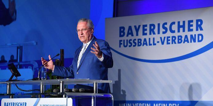 Sportminister Herrmann beim BFV-Verbandstag 2018