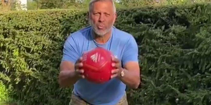 Jimmy Hartwig mit einer Videobotschaft an die Jugend.