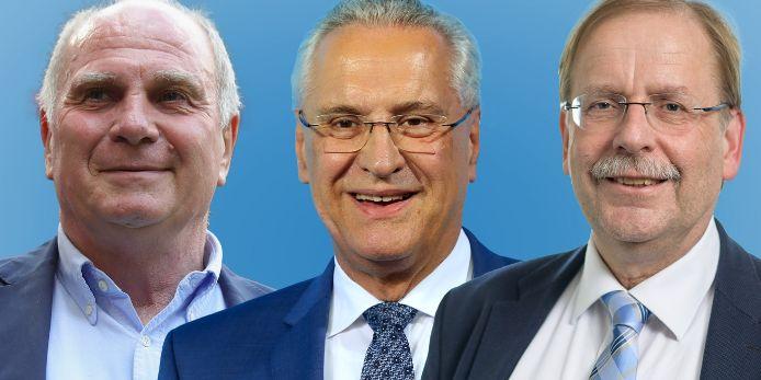 Uli Hoeneß, Joachim Hermann und BFV-Präsident Rainer Koch.