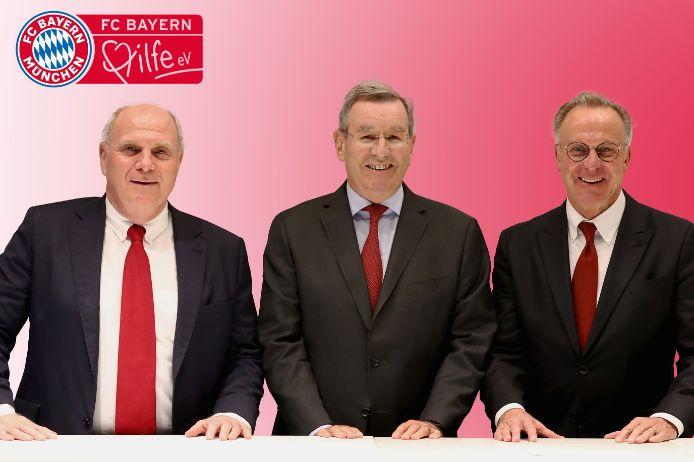 Karl-Heinz Rummenigge, Karl Hopfner und Uli Hoeneß