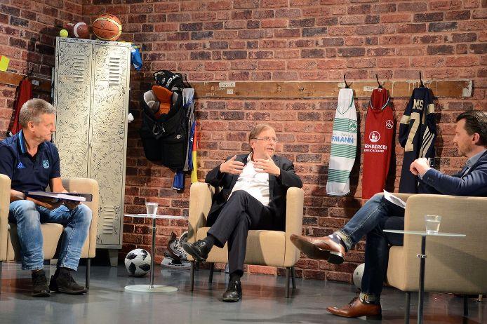 TV-Talk mit BFV-Präsident Rainer Koch und Dirk Schaefer vom FC Stein.