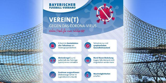 Der BFV stellt seinen Vereinen in Zeiten der Corona-Pandemie kostenlose Hygiene-Plakate zur Verfügung.