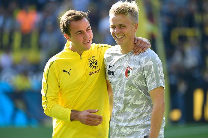 Mario und Felix Götze beim Bundesliga-Spiel Borussia Dortmund gegen FC Augsburg.